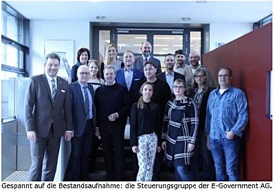 Gruppenbild der Steuerungsgruppe E-Government AG